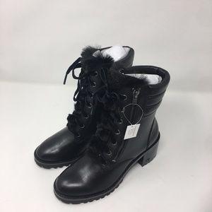 Coach Jenna Black Leather Boot